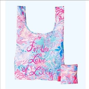 Lilly Pulitzer reusable tote grocery bag  NWT